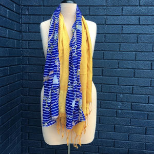 Accessories - Yellow & Blue Scarf Lot (2)